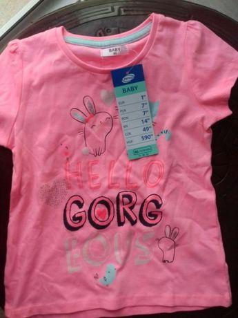 Nowa koszulka dla dziewczynki rozmiar 86 firmy pepco