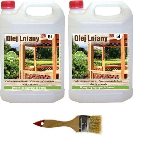 Olej lniany 100% naturalny impregnat do drewna 10 litrów GRATIS pędzel