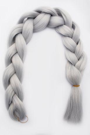 WŁOSY SYNTETYCZNE X-PRESSION: jasny szary srebrny błękit