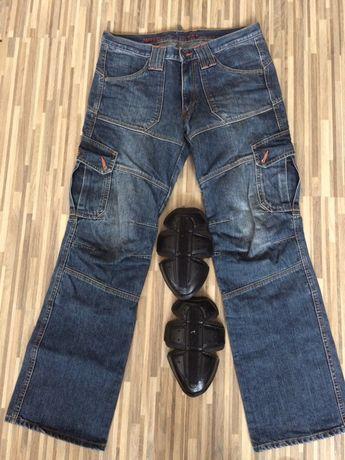 Spodnie motocyklowe dżinsowe jeansowe
