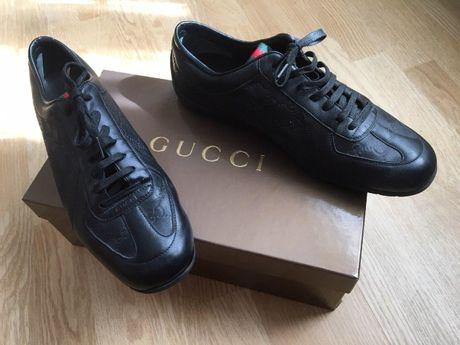 Мужские кожаные кроссовки Gucci