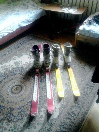 Продам лыжи (лыжи+ботинки)