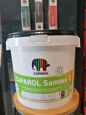 Caparol Samtex 3 Antyrefleksyjna Farba Biała 15L