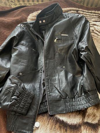 Брендовая мужская кожаная куртка