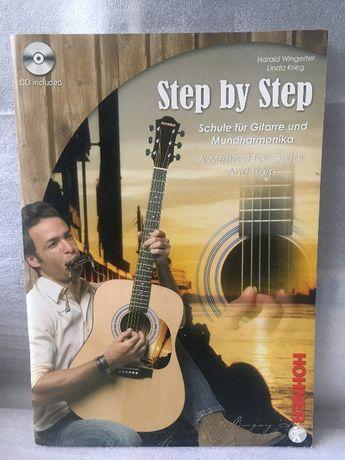 NOWA szkoła gry na gitarze i harmonijce ustnej Step by step + CD