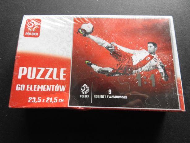 Puzzle 60 ele Robert Lewandowski 9 Oficjalny produkt licencyjny PZPN