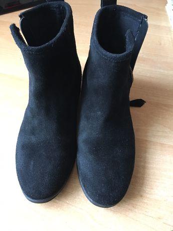 Ботиночки,натуральная замша, 33 размер