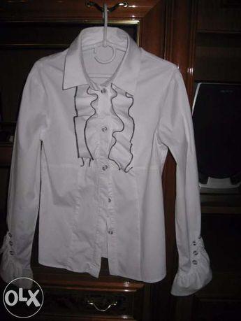 блуза школьная девоч р.146-152, 98%-хлопок,сост. идеальн