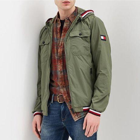 Куртка / ветровка Tommy Hilfiger | р - S | зеленая / хаки | MW0MW05274