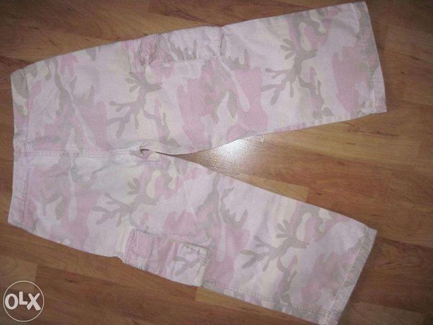 spodnie 140-152 moro różowe