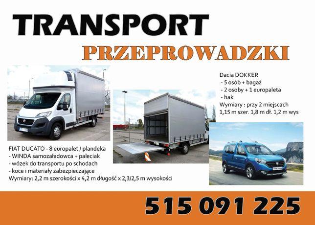 Transport bus plandeka 8 palet + winda / przeprowadzki / 24h/7dni