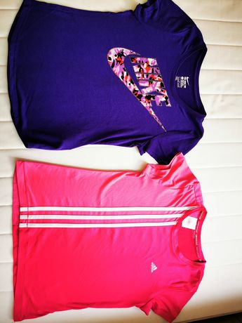 146 bluzka 152 nike adidas bluzeczka sportowa różowa fiolet climacool