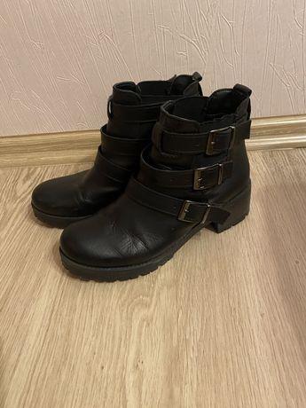 Ботинки женские кожаные демисезонные  37р.(24,5см)