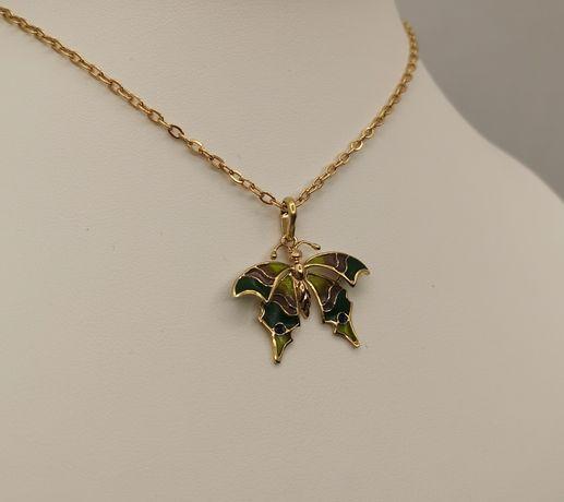 Piękna złota zawieszka, motyl. Złoto pr. 585. Super na prezent.