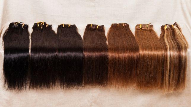 Натуральные волосы на заколках ВСЕ ЦВЕТА! Отличное качество! АКЦИЯ