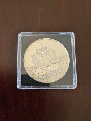 Solidarność 1990 rok 100000 złotych 1oz uncja 31,1g srebro 999