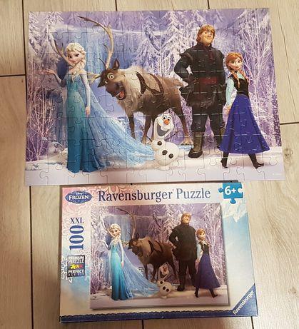 Puzzle frozen kraina lodu Anna i Elsa 100 elem przesyłka olx 5zł