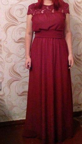 Красивое Вечернее, Выпускное платье цвета марсала