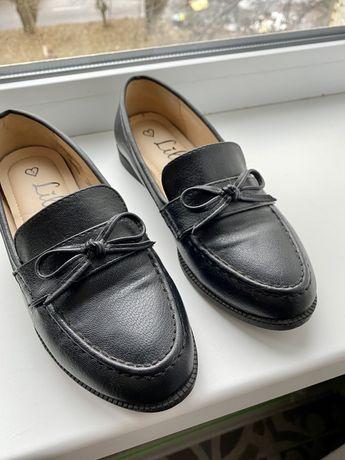 Туфли/лоферы черные