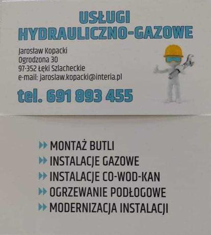 Usługi hydrauliczno-gazowe