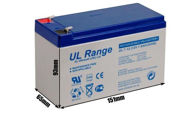 Akumulator do zabawki dla dzieci Żelowy ULTRACELL 12V 7Ah/7000mA