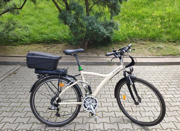 Rower Elektryczny Bitwin700 duży wygodny amortyzowany dodatki