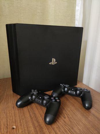 Продам PlayStation 4 Pro 1 tb с двумя джойстиками