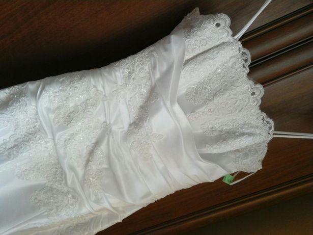 Suknia ślubna z koronką biała rozmiar XS/S