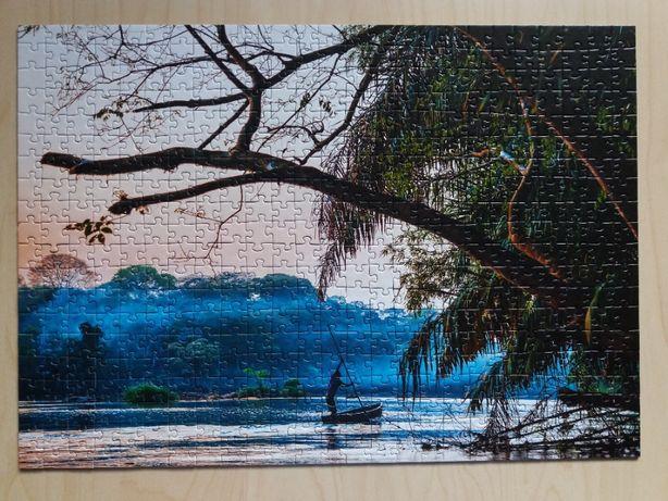 Puzzle 500 Sierra Leone + 500 Harbour bridge, Sydney [37103]