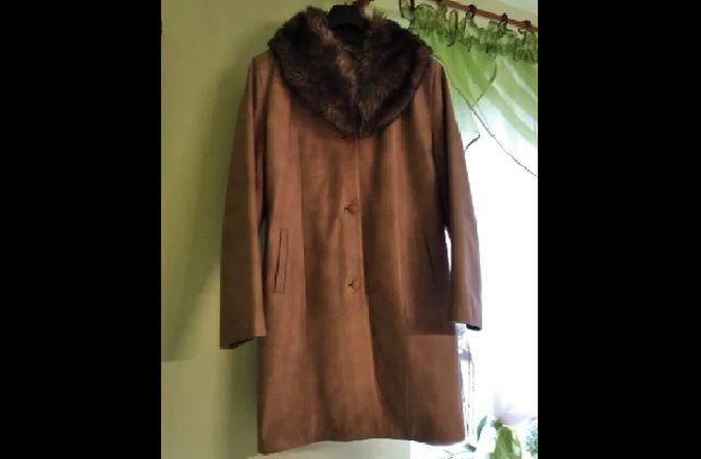Płaszcz z naturalnej skóry XXL polski producent na zimę lub jesień