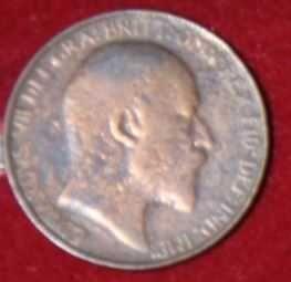moneta 1/2 pensa 1907 r