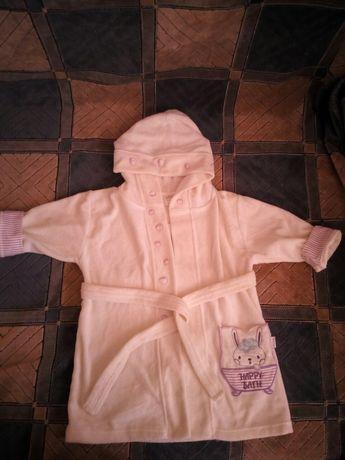 Новый детский махровый халат на 1 год