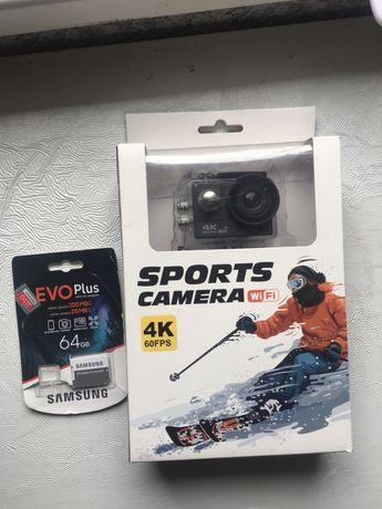 GoPro , Спортивна Камера 4К 60FPS + WiFi