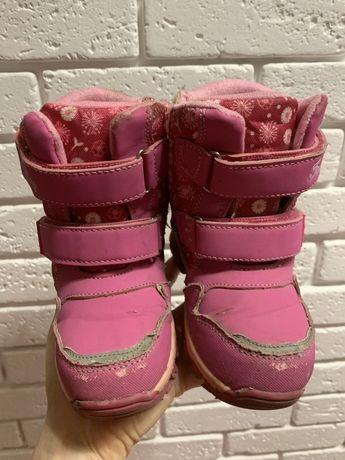 Зимние термо сапоги сапожки дутики для девочки