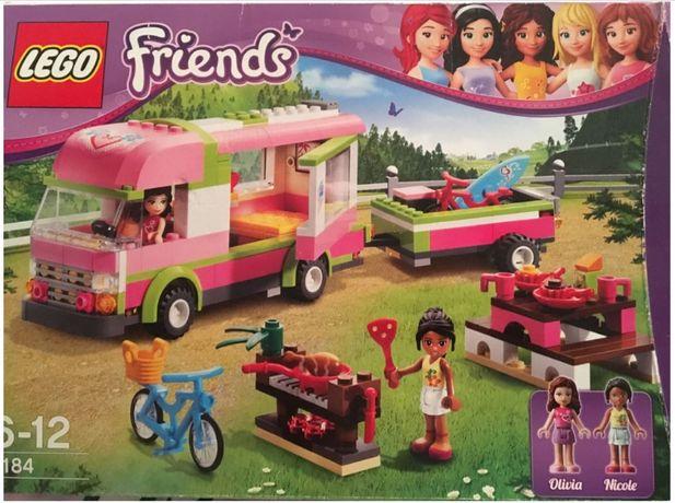 Lego Friends Samochód Camping / Camper / Przyczepa kempingowa / Rowery