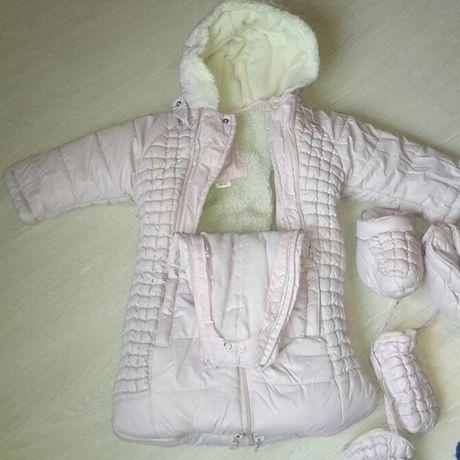 Детский зимний комбинезон трансформер