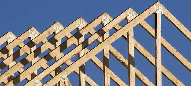 Więźba dachowa, łaty, kantówki, deski szalunkowe.