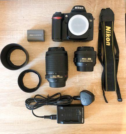 Kit Completo Camâra Nikon D80 + 35mm f/1.8 + 55-200mm C/Extras