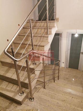 Balustrady Nierdzewne Szklane Nowoczesne Schody Balkon Taras