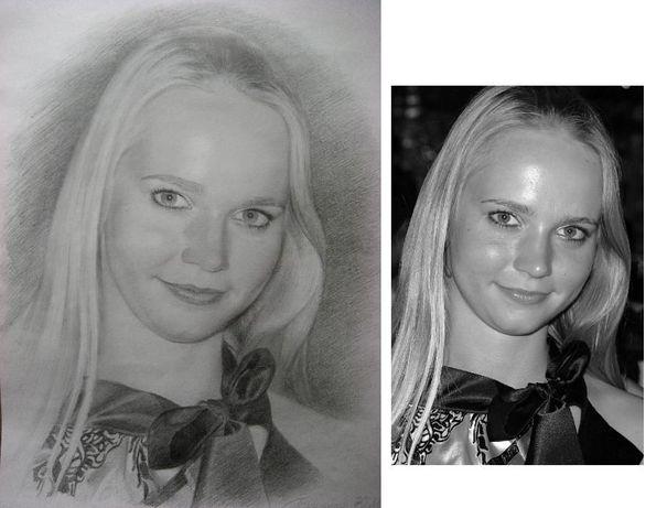 Сделайте День Влюбленных незабываемым! - подарите портрет карандашом!