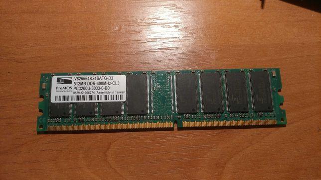Память 512Mb DDR 400MHz CL3 PC3200U ProMOS