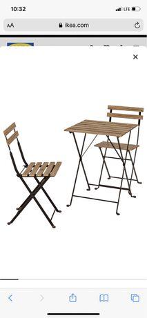 Ikea stolik i dwa krzesla Tarno