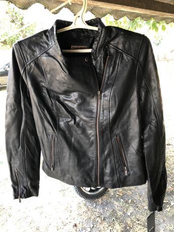 Женская куртка-косуха Black Rivet,кожаная,осенняя,весенняя