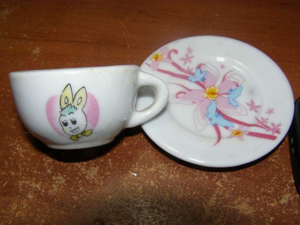 Чайная кукольная пара из фарфора