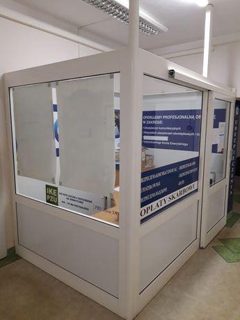 Konstrukcja PCV (Box) pod biuro, punkt sprzedaży