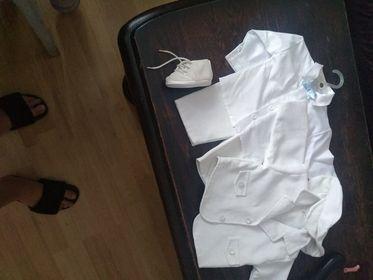 sprzedam garniturek do chrztu dla chłopca stan idealny