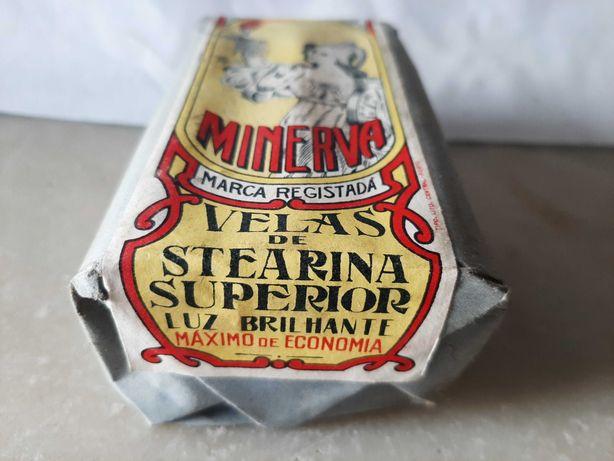 Velas de Stearina Superior Minerva. 3 caixas.