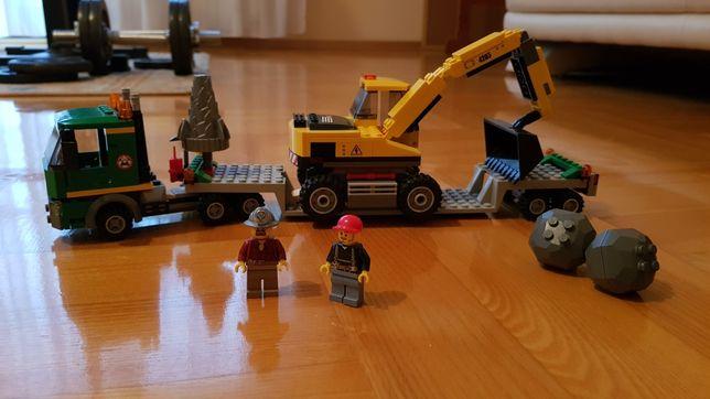 Lego City 4203 koparka z transporterem 100% klocków