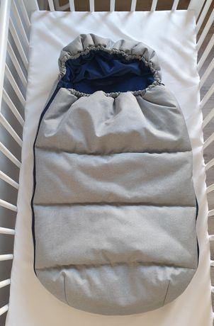 Śpiworek zimowy wkład do wózka wodoodporny
