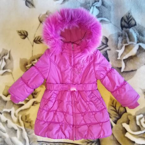 Пальто зимнее на девочку KIKO возрастом 3-4года